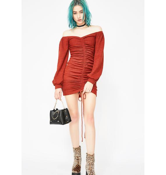 Vino Infatuated Ruched Mini Dress