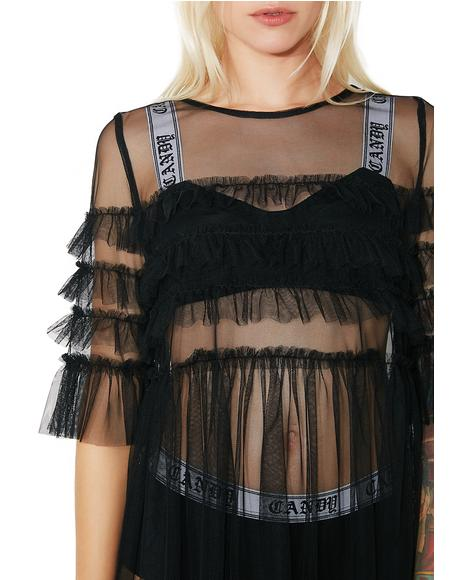 Ophelia Sheer Babydoll Dress