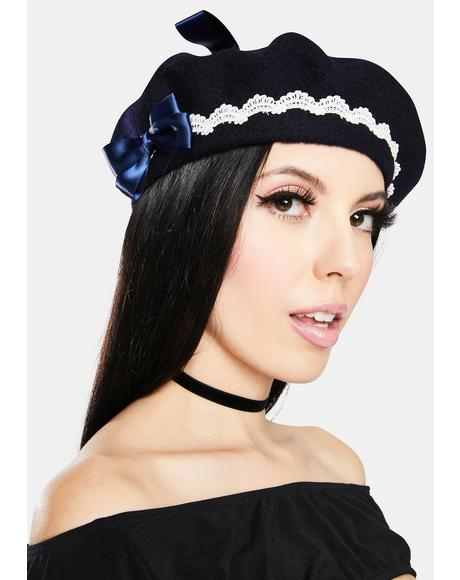 Own The Scene Bow Beret