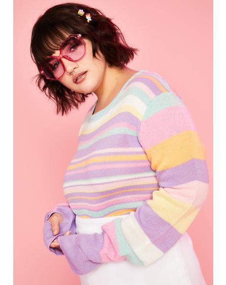 Gotta Pick Ur Pleasure Crop Sweater