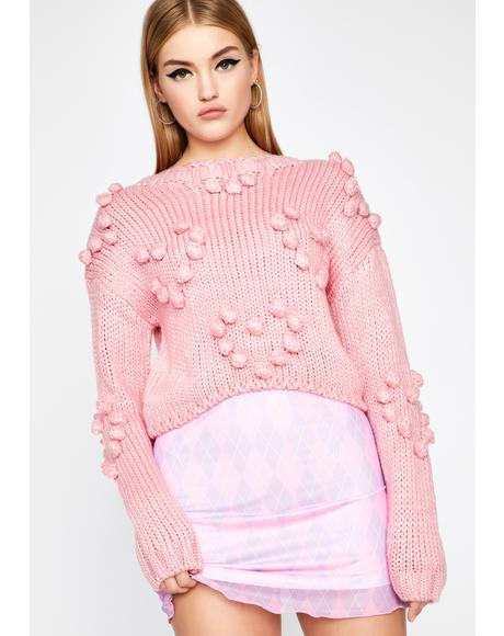 Prissy Feelings Pom Sweater