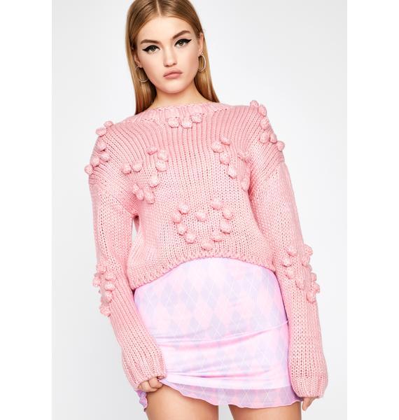 Prissy Feelings Pom Sweater