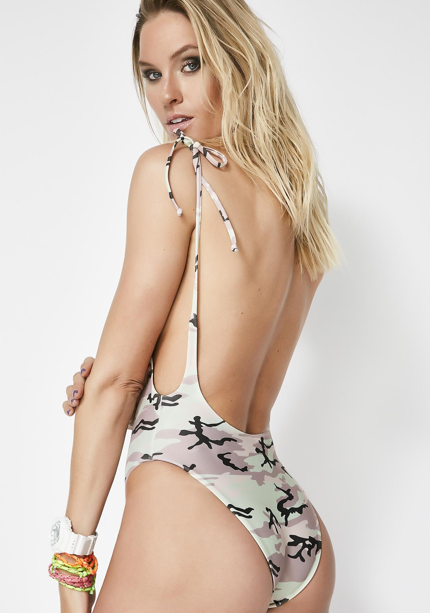 Wildfox Couture Rose Blaze Andi One Piece