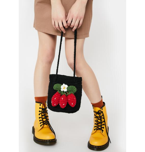 The Berry Best Knitted Tote Bag