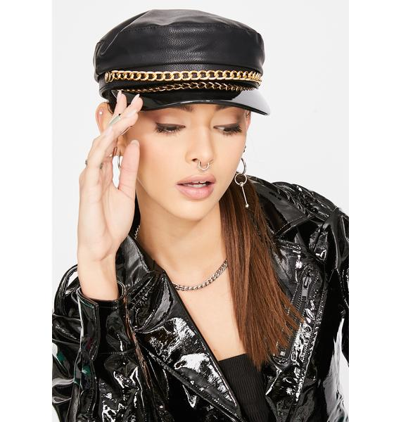 Night Late Reply Chain Biker Hat
