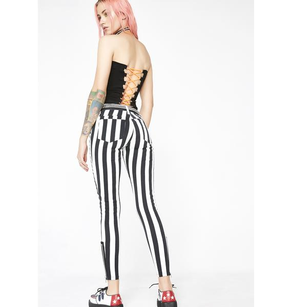 Current Mood Strange N' Unusual Stripe Pants