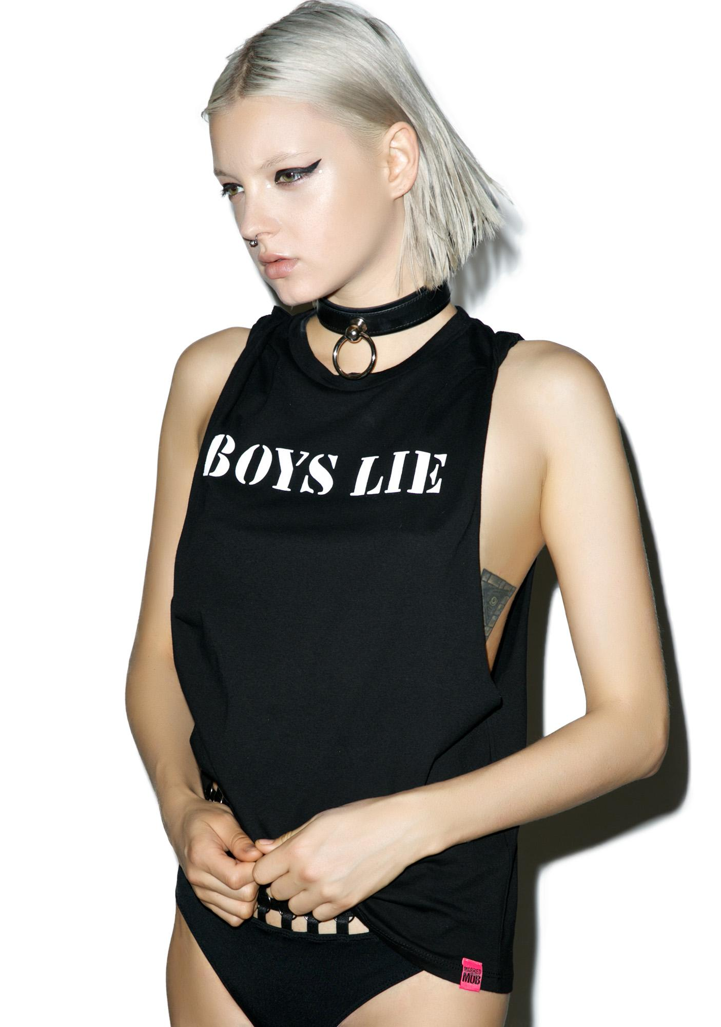 Married to the Mob Boys Lie Muscle Tank