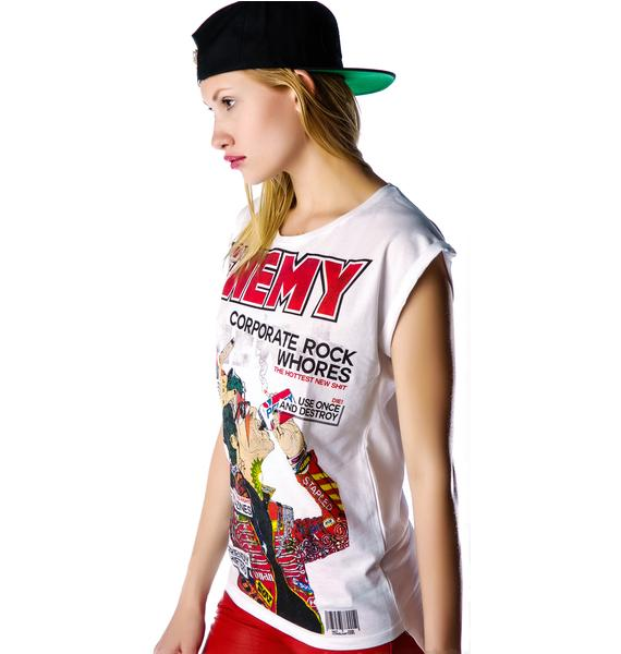 Disturbia Enemy Rolled Sleeve Tee