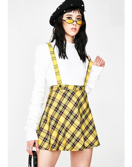 Mello Suspender Skater Skirt