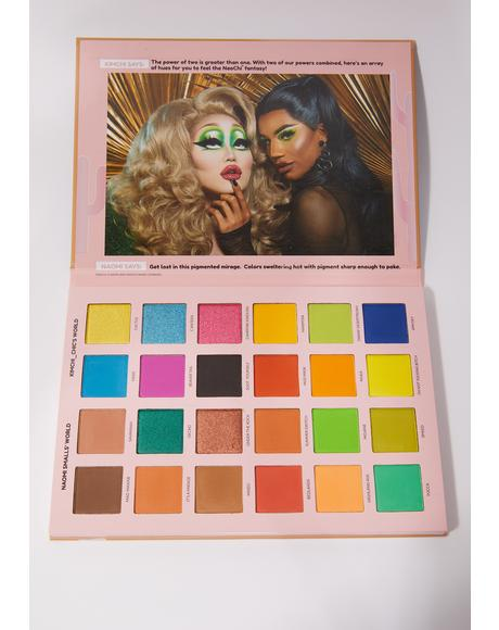 x Naomi Smalls 2 Queens In 1 Desert Mad Maxine Shoot Yourself Eyeshadow Palette