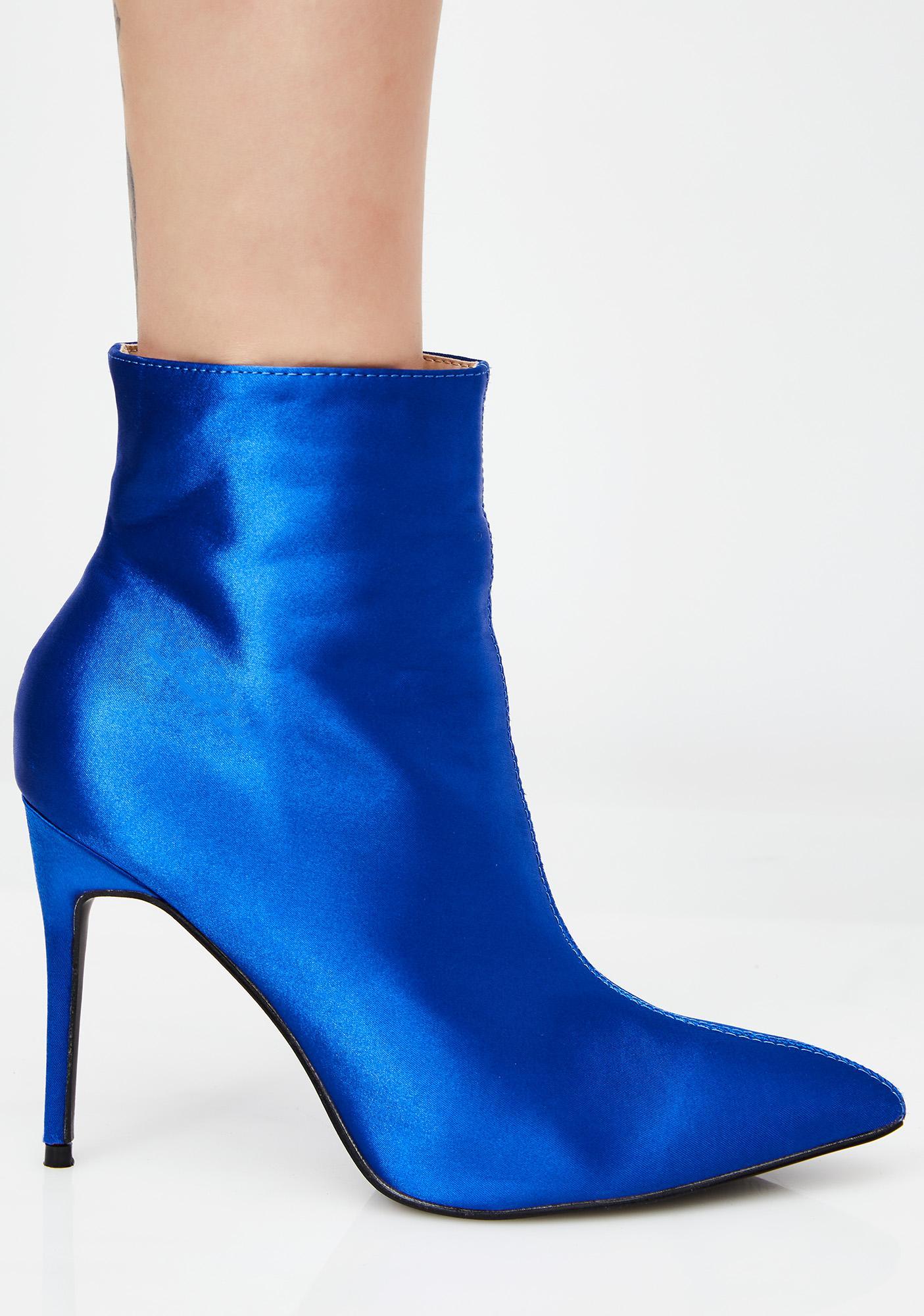 e92502539b6 Public Desire Porter Satin Ankle Boot