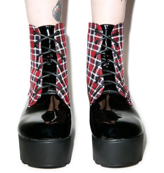 Mob'n In Mah Kilt Platform Boots