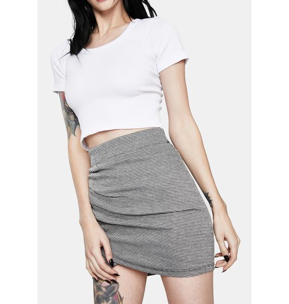 In Your Eyes Ruched Bodycon Mini Skirt