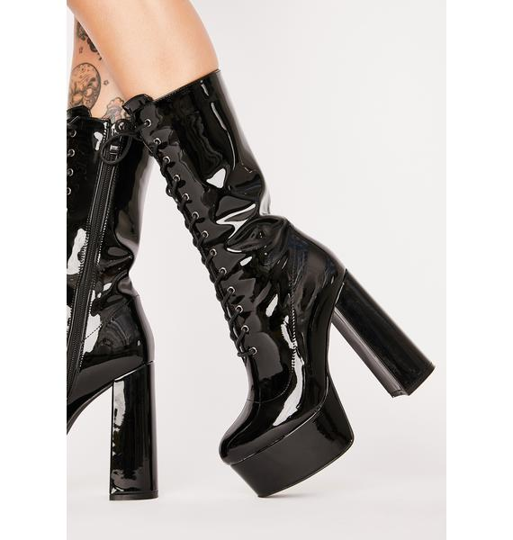 AZALEA WANG Believer Lace-Up Boots