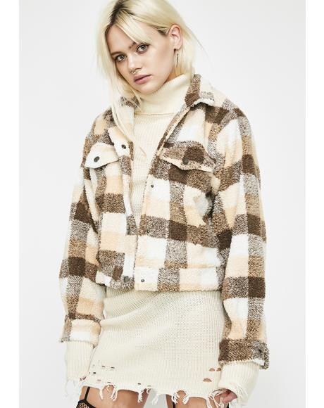 Latte Rock Mtn. High Plaid Jacket