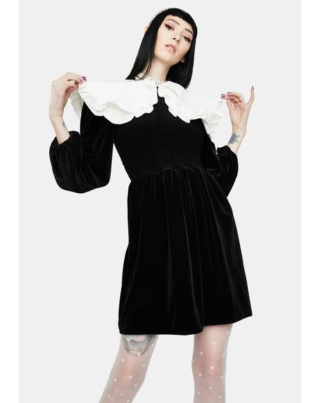 Velvet Confessions Mini Dress