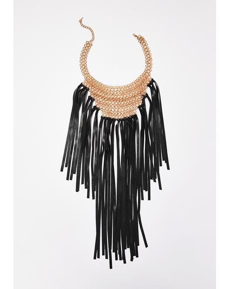 Lady Danger Fringe Necklace