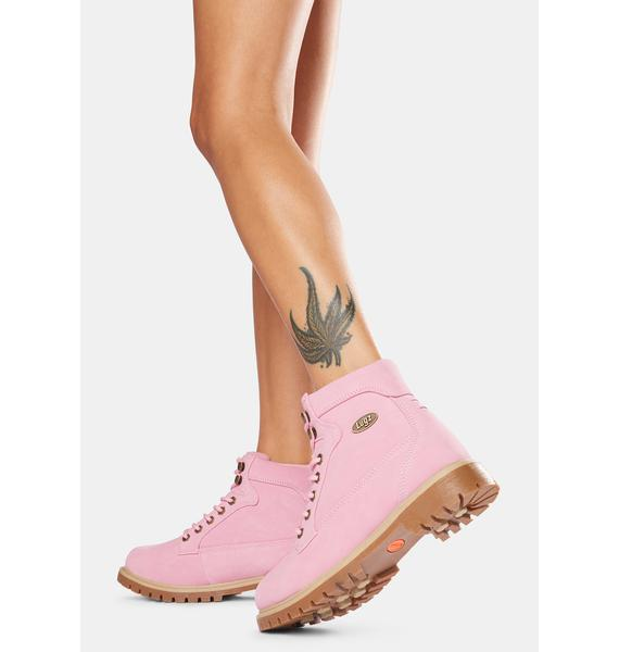 Lugz Pink Mantle Hi 6-Inch Boots