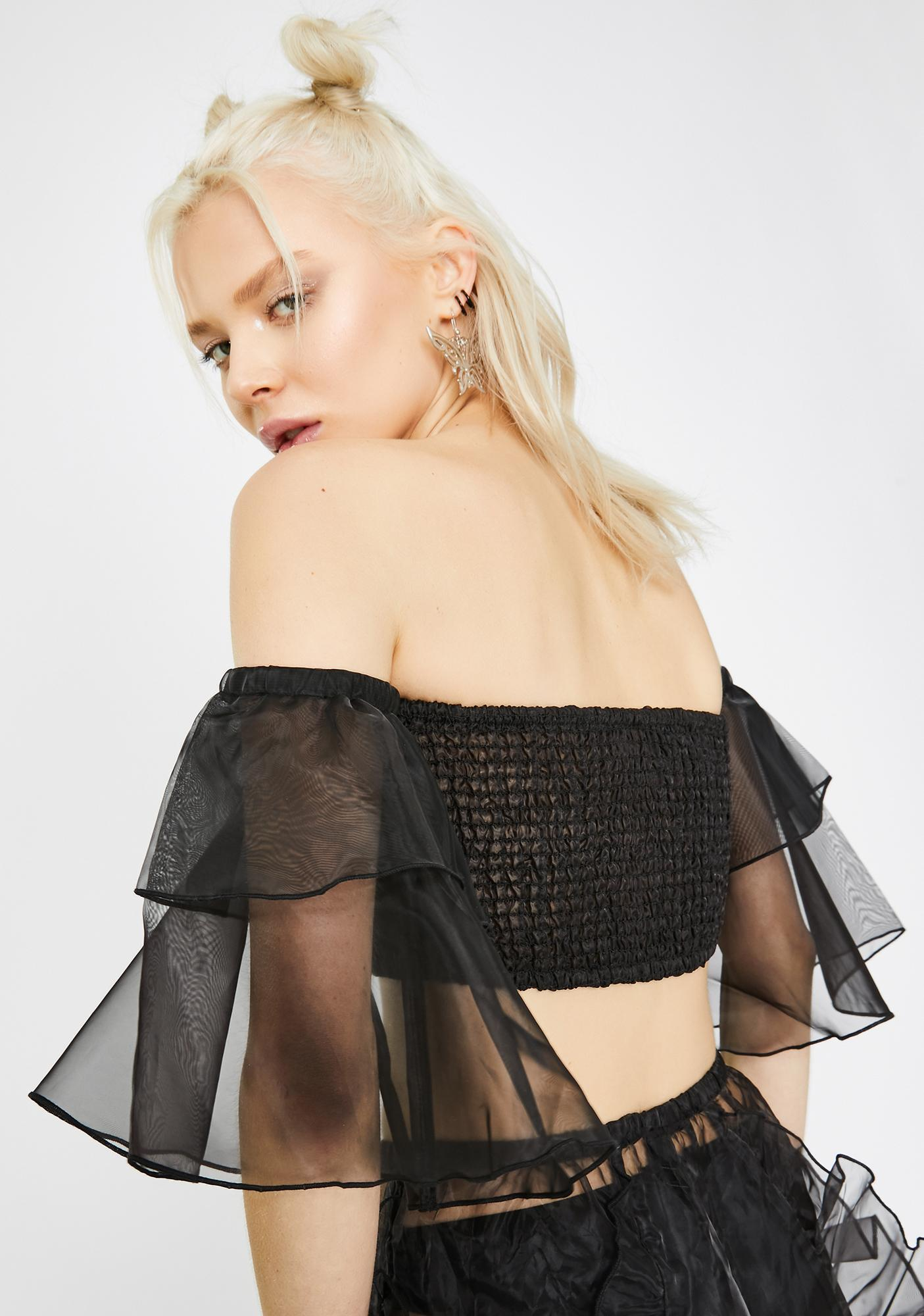 Club Exx Dark Elven Priestess Ruffled Top
