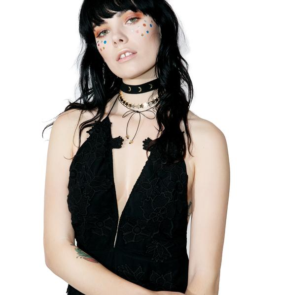 Love And Madness Triple Crescent Choker