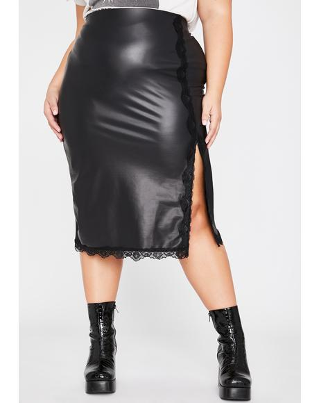 Wicked Legit Ruthless Flirt Midi Skirt