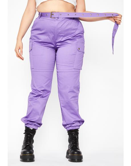 Grape True Junglist Cargo Pants