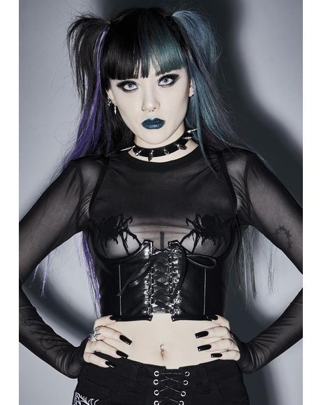 Dead Of Night Underboob Corset