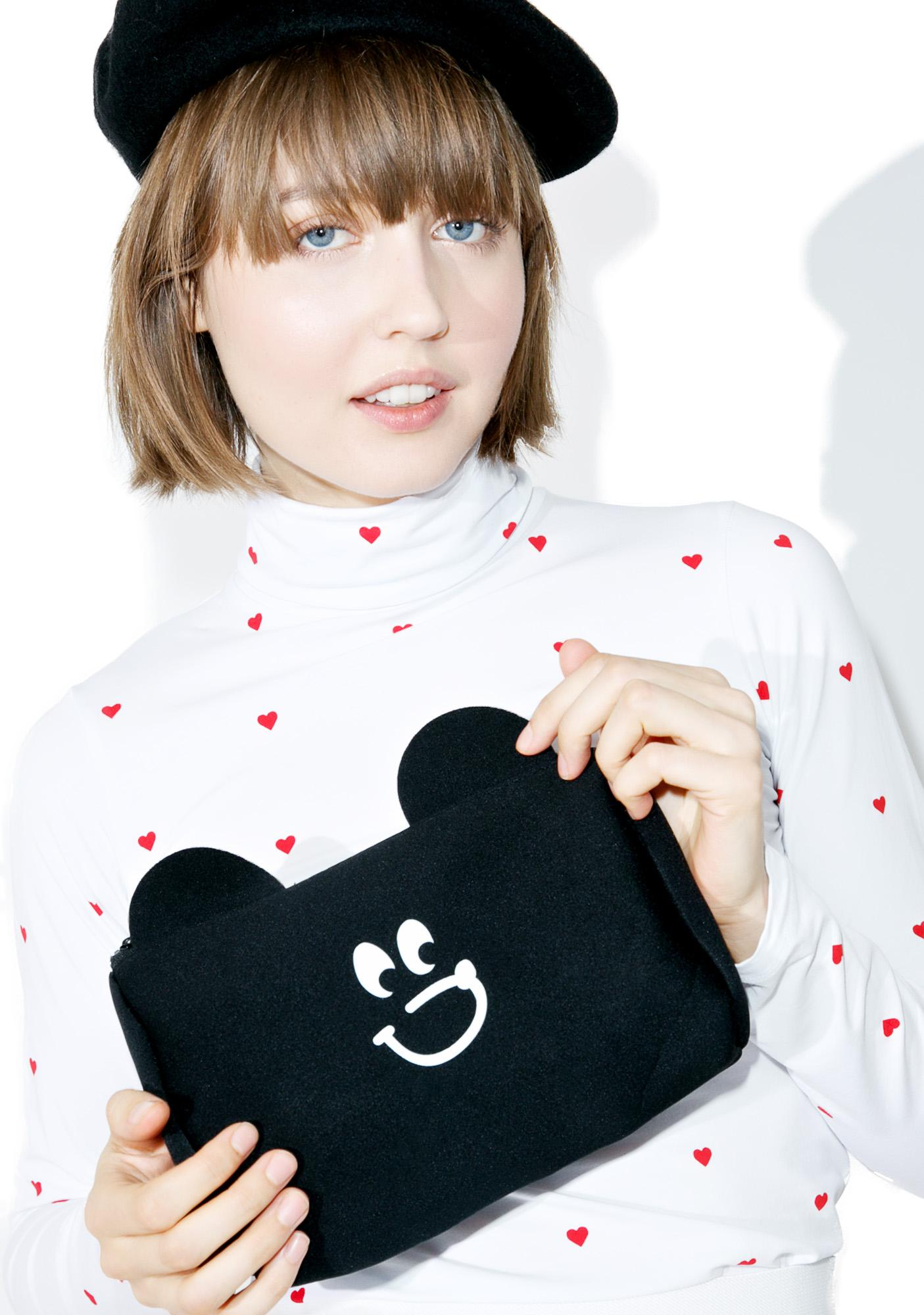 Lazy Oaf Bear Face Purse