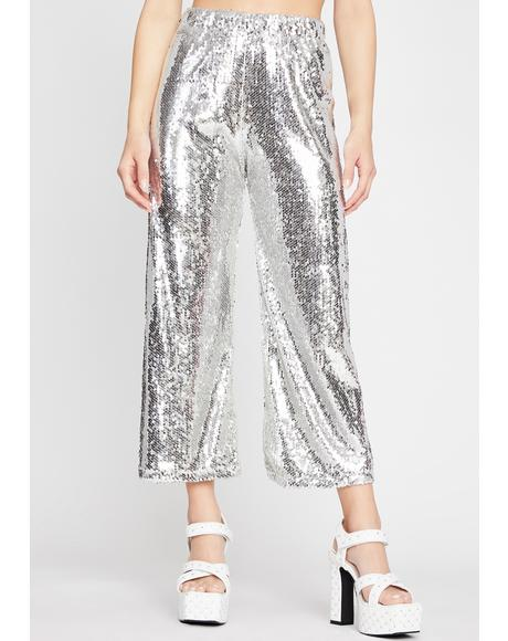 Steel Sorry For What Sequin Pants