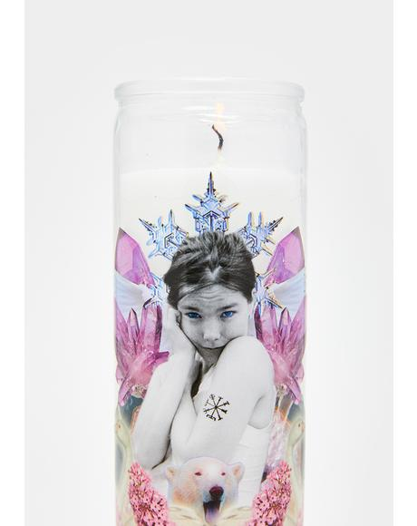 St. Of Hidden Places Altar Candle