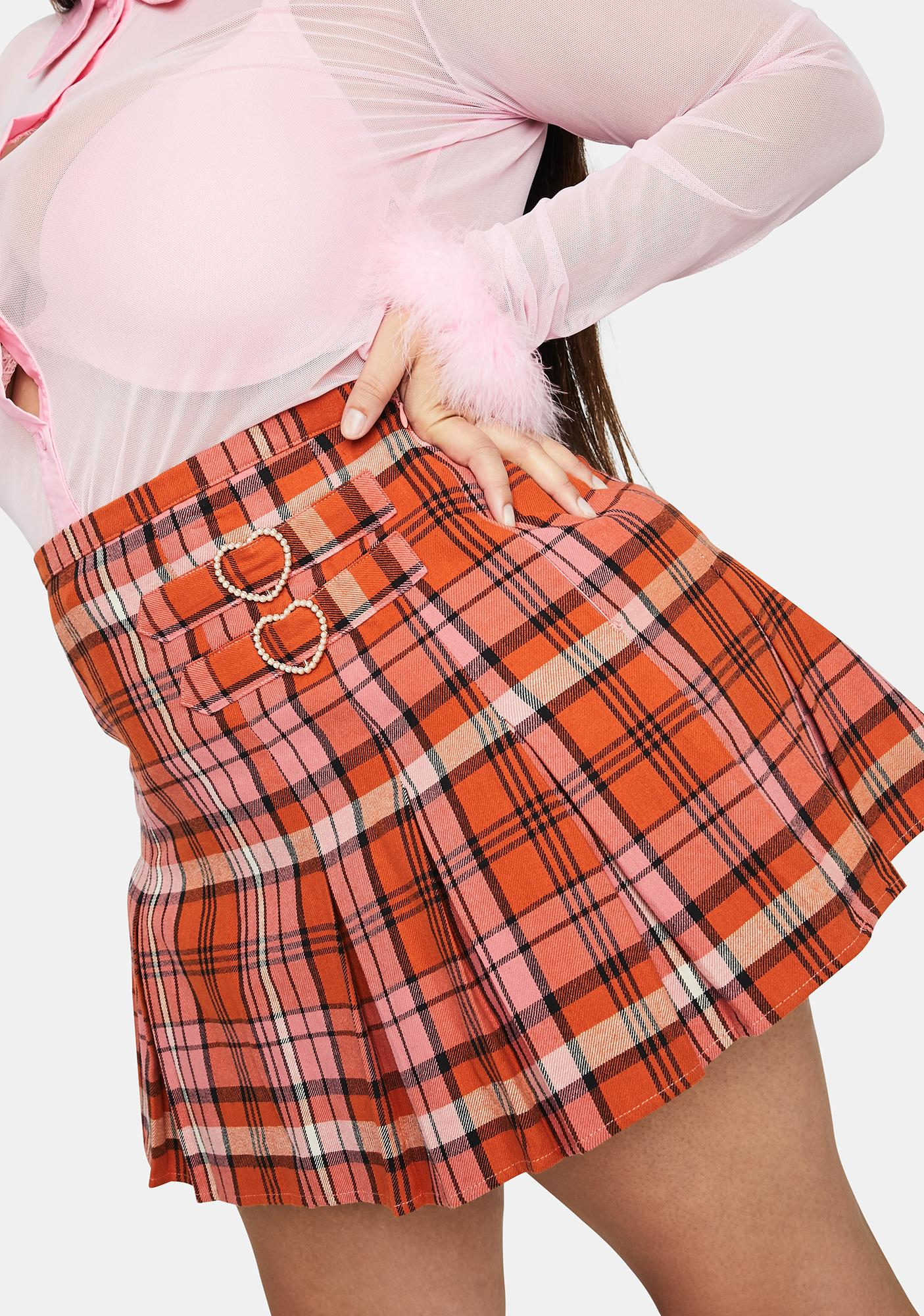 Sugar Thrillz Real Everlasting Love Plaid Skirt
