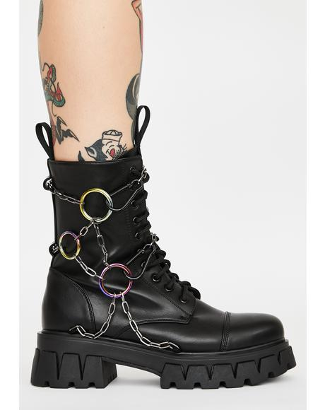 Black Cyrus Ankle Boots