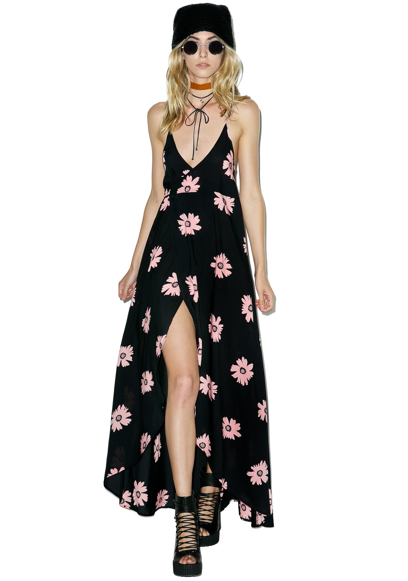 Wildfox Couture Pink Daisy Atlantis Wrap Dress
