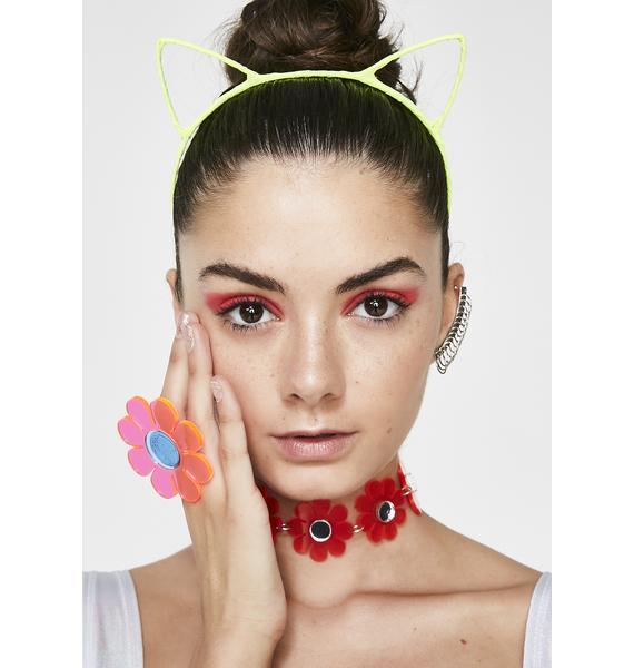 Dizzy Kitty Neon Headband