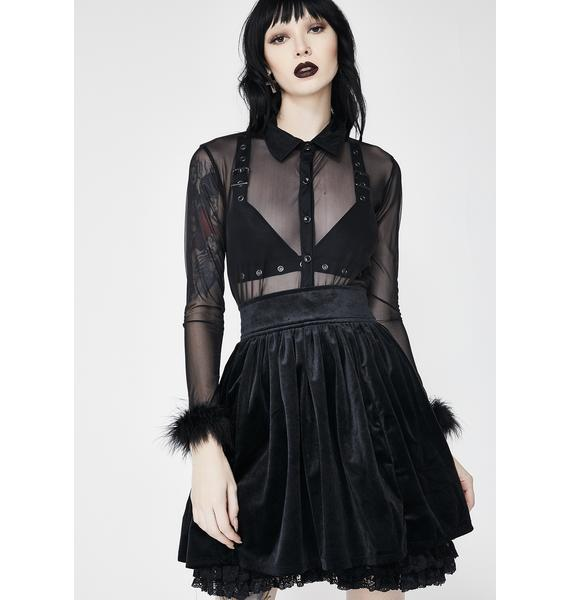 Killstar Juliet Velvet Skirt