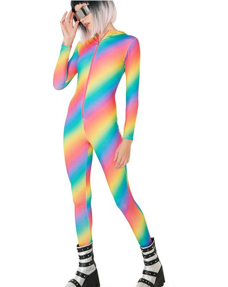 Prism Ranger Rainbow Catsuit