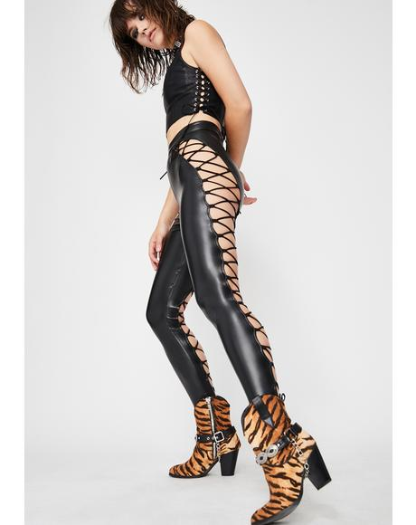 Evil Appeal Lace-Up Pants