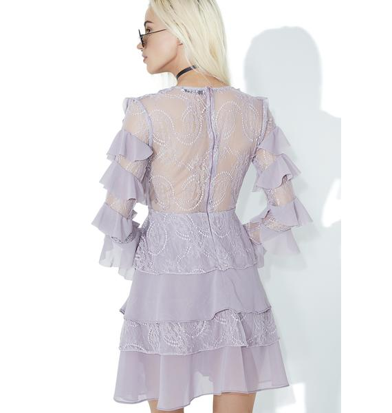 Glamorous Lilac Ruffle Mini Dress