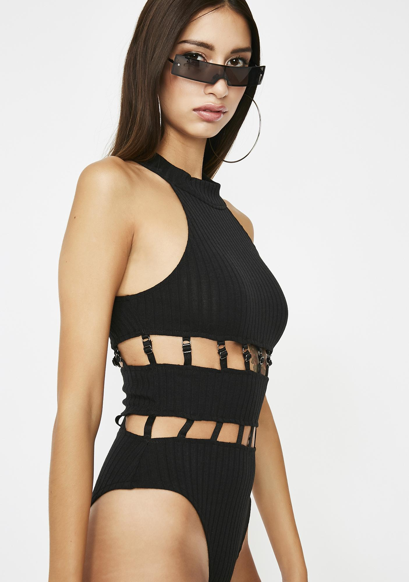 Playin' For Keeps Caged Bodysuit