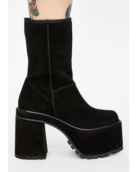 Payback Time Leather Platform Boots