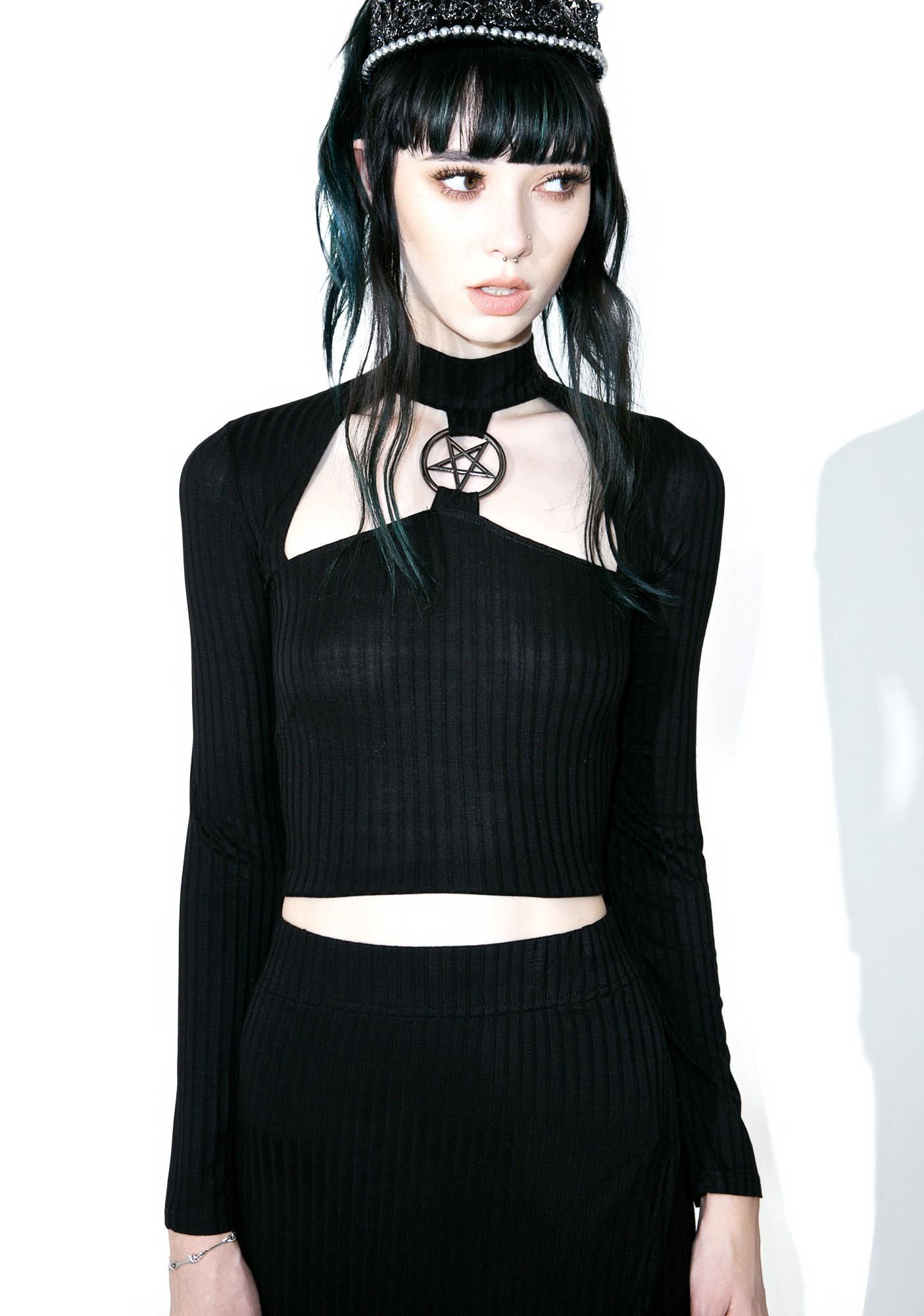 Killstar Band Of Misfits Crop Top