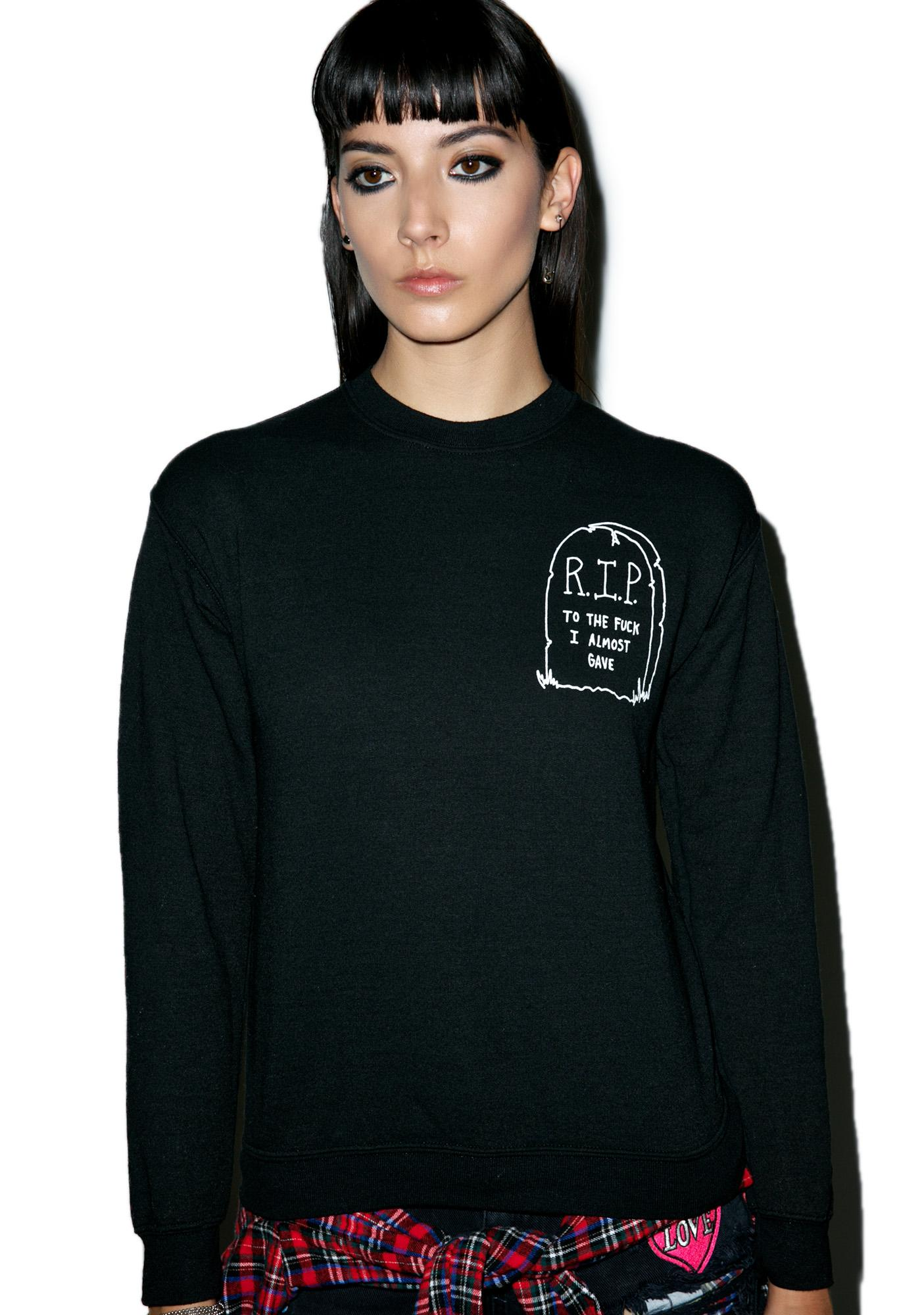 Jac Vanek Rest In Peace Sweatshirt