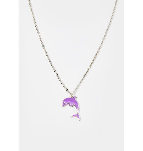 Under The Surface Dolphin Necklace