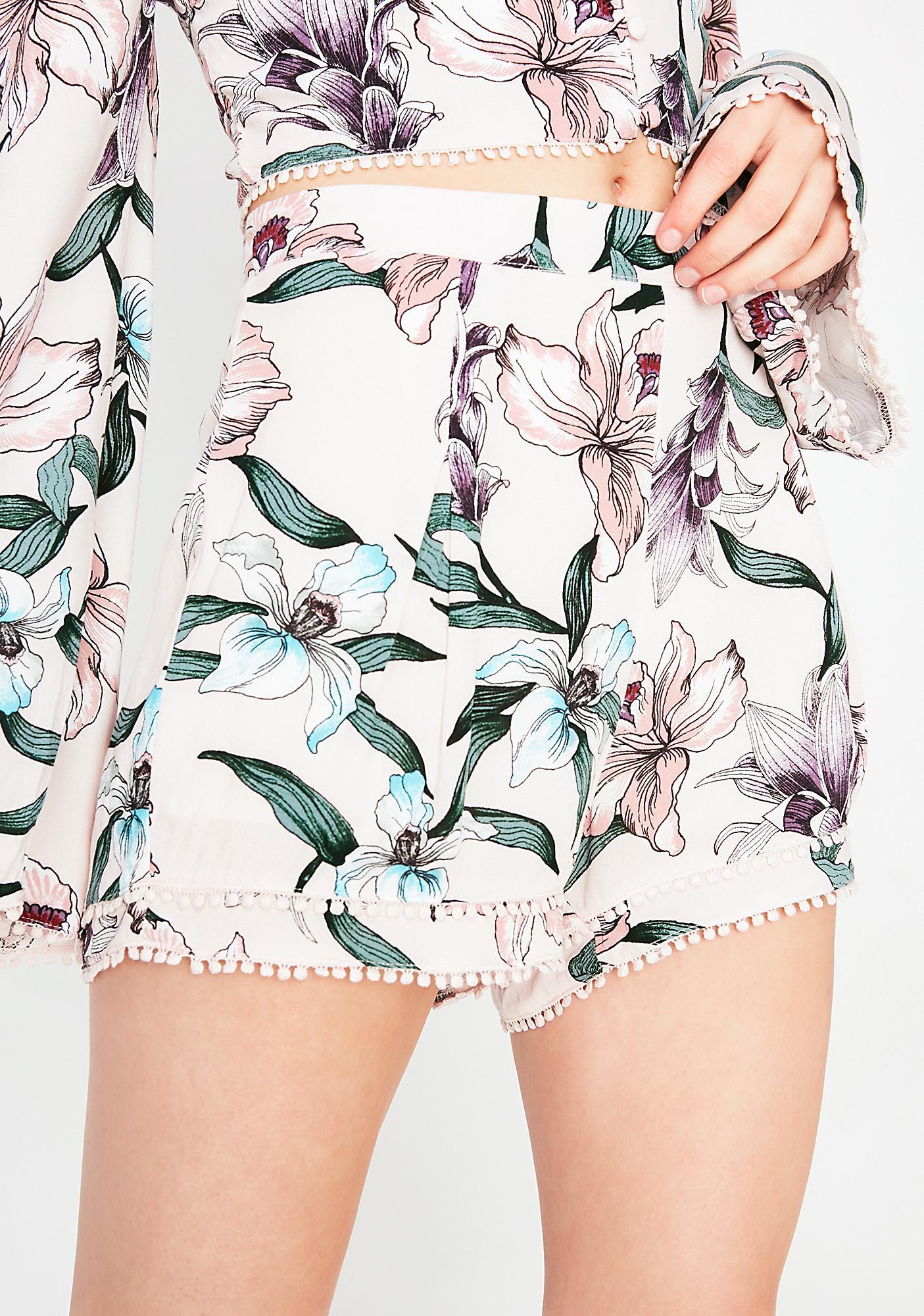 Blushin' Babe Floral Shorts