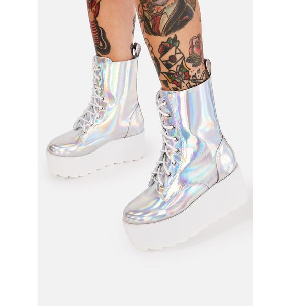 Y.R.U. BLOQ Holographic Platform Boots