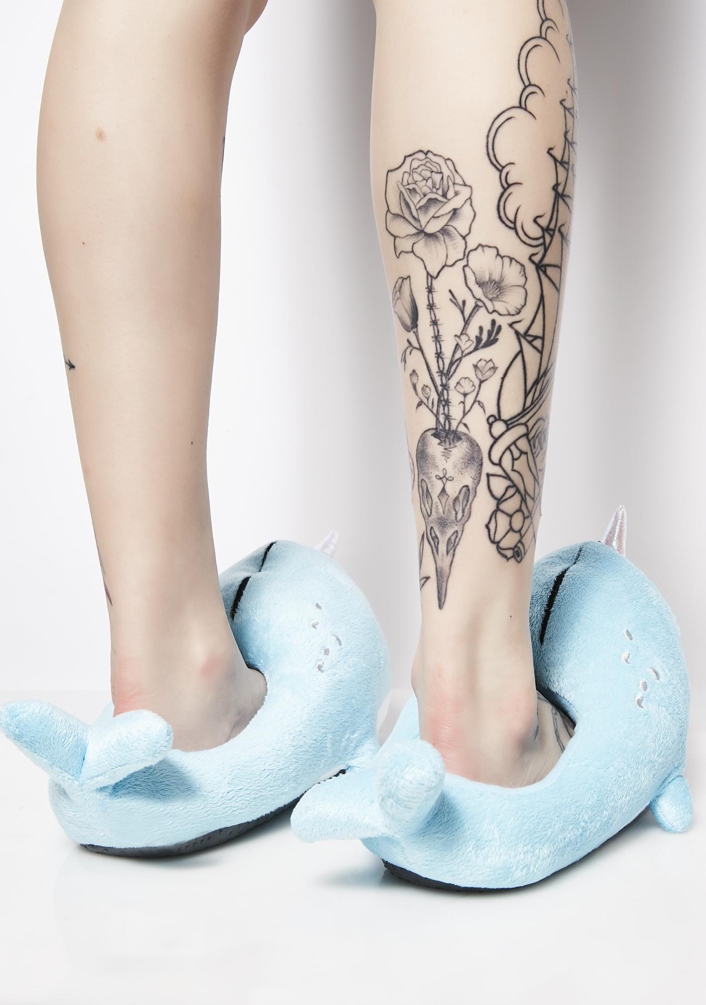 Smoko Narwhal Light-Up Slippers