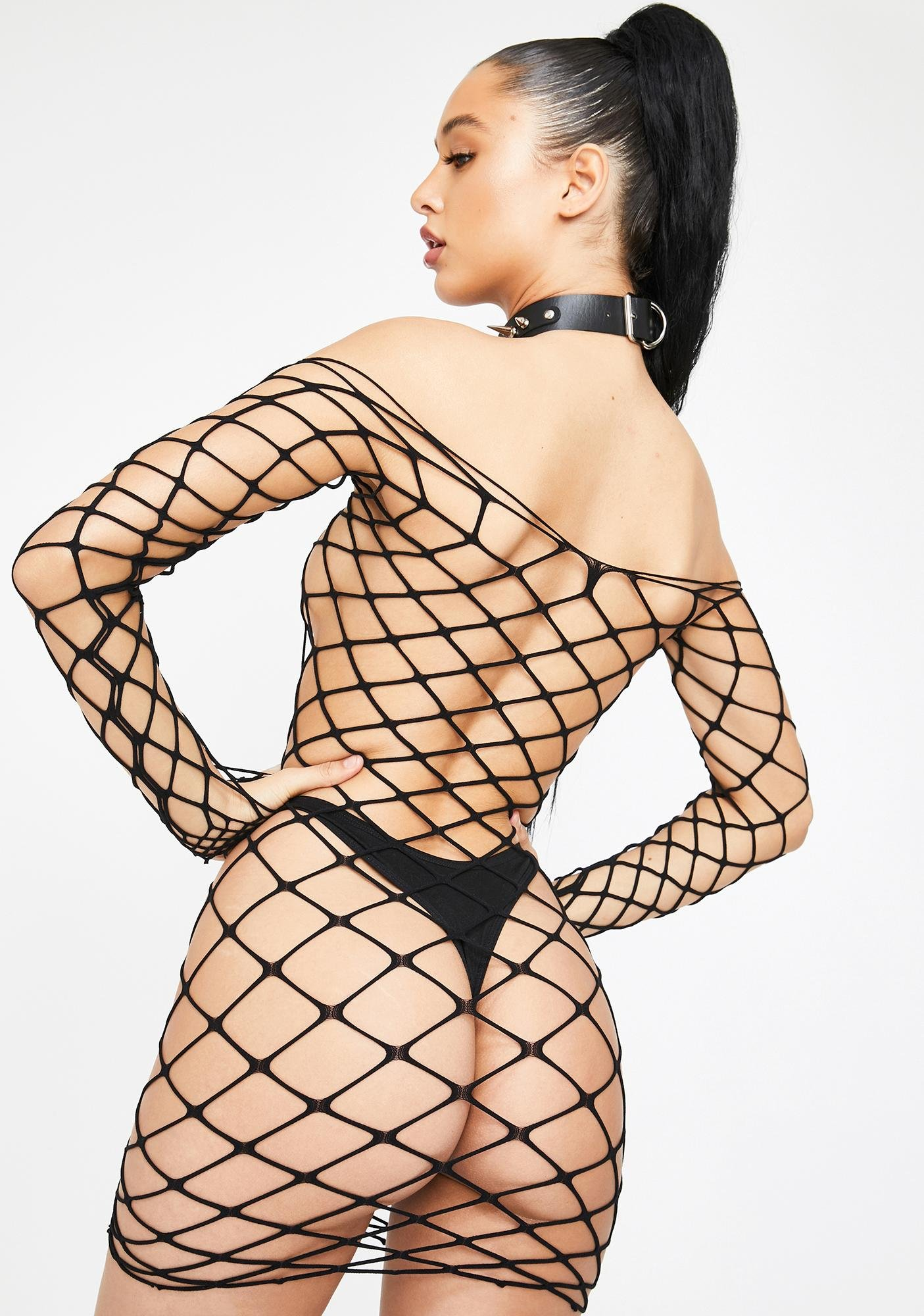 Your Eyes Only Fishnet Dress