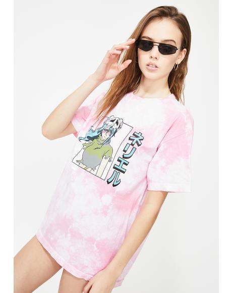 X Bleach Nel Tie Dye Graphic Tee
