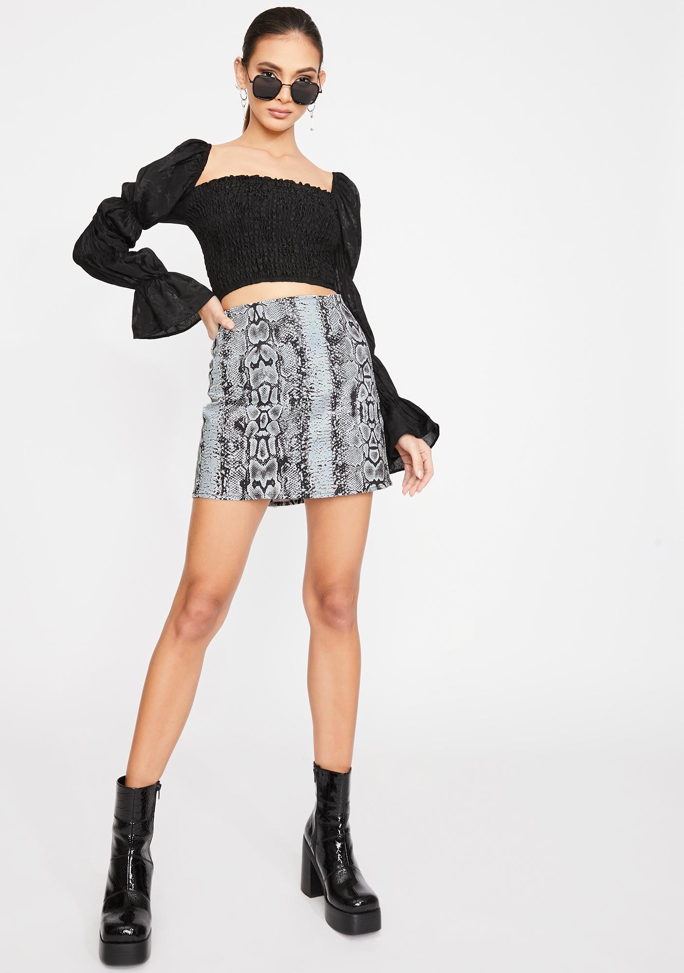 Motel Snake Pelmet Mini Skirt