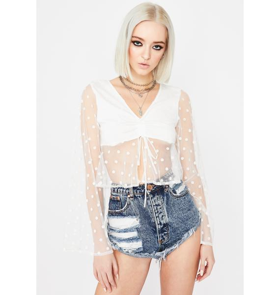All Dolled Up Sheer Crop Top